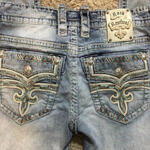 Rock Revival Mens Blue Scion Slim Denim Jeans 31